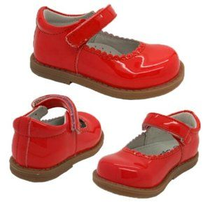 Grosby Mousey Coral Patent Party Shoe